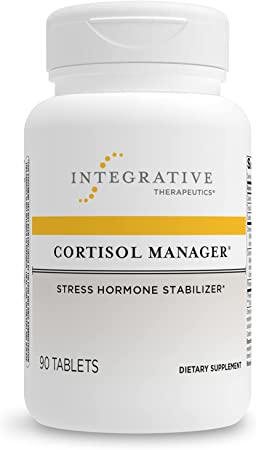 Integrative Therapeutics Cortisol Manager Supplement - Reduces Stress to Support Sleep* - Ashwagandha, L-Theanine - Support Adrenal Health* - 90 Count