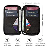 Travel Wallet & Family Passport Holder w/RFID