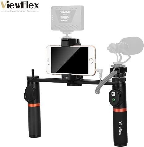 Bulufree VF-H5 Smartphone Rig Video Dual Handheld Metal Grip ...