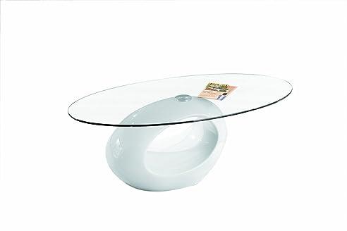 Links 50100120 Couchtisch weiß hochglanz Glastisch Wohnzimmertisch ...