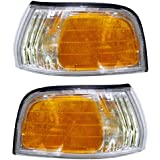 1992-1993 Honda Accord Corner Park Light Turn Signal Marker Lamp Pair Set Right Passenger And Left Driver Side (92 93)