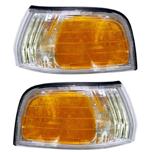 1992-1993 Honda Accord Corner Park Light Turn Signal Marker Lamp Pair Set Right Passenger And Left Driver Side (92 (Honda Accord Turn Signal Light)