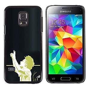 LECELL--Funda protectora / Cubierta / Piel For Samsung Galaxy S5 Mini, SM-G800 -- Fútbol Afro --