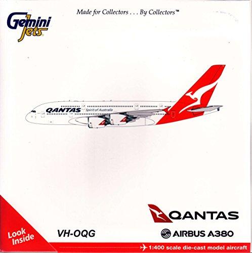 Gemini Jets Qantas Airways A380 VH-Oqg 1:400 Scale Die Cast Airplane Model (Vh Qantas)