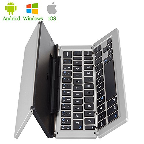 PinPle Bluetooth Keyboard Foldable with Aluminum Alloy Sh...