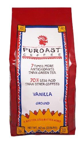 Puroast peu acides café à la vanille Café Drip Grind, 2,5 Pound Bag