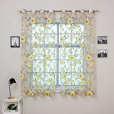 DEZENE Sheer Curtains,Multiple Patterns, Multiple Colors