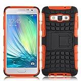 JAMMYLIZARD [ Samsung Galaxy A5 Case ] ALLIGATOR Heavy Duty Double Protection Rugged Back Cover, Orange