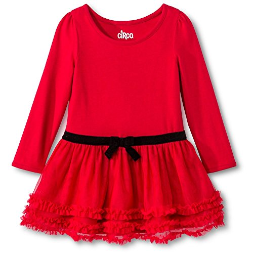 Toddler Girls' Knit Red Tutu Dress (18 months, Red)