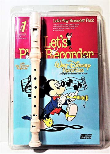 Let's Play Recorder Pack: Walt Disney Favorites Arranged for Recorder Solo or Duet - Level 1 (Recorder, Songbook, Demonstration Record)