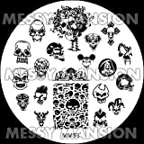 MESSY MANSION MM58 Nail Art Stamping Plate - Skulls