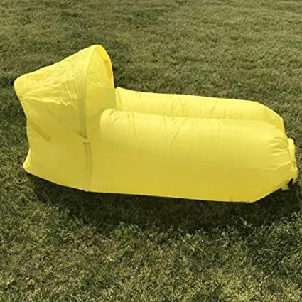 Amazon.com : Weastion Lazy Inflatable Bed Thicken Oxford ...