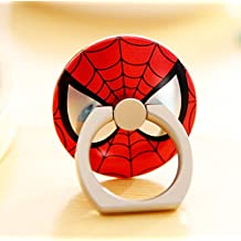 ZOEAST(TM) Super Marvel Hero Ring Universal 360° Rotating Phone Buckle Tablet Finger Grip Ring Stand Holder Kickstand Tablets iPhone 4 4S 5 5S 6 6S SE 7 Plus Samsung iPad iPod (Spiderman)