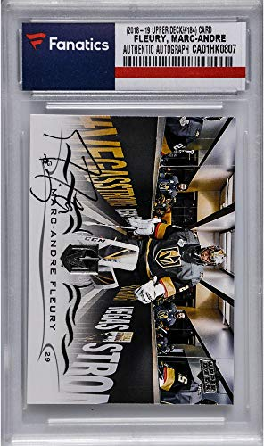 - Marc-Andre Fleury Vegas Golden Knights Autographed 2018-19 Upper Deck Series One Hockey #184 Card - Fanatics Authentic Certified