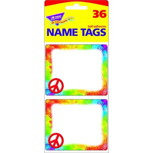 TREND ENTERPRISES INC. PEACE SIGN NAME TAGS (Set of 24)