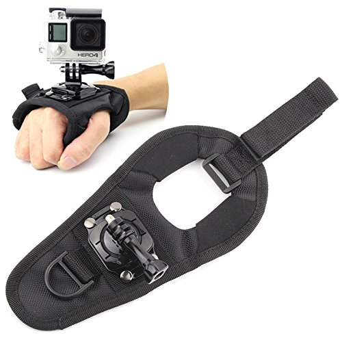 360 Degree Rotating Swivel Hand Mount for GoPro Action Camera, Wrist Mount - Perfect for Paragliding, Wakeboarding, Kite Surfing, Sky Dive and More