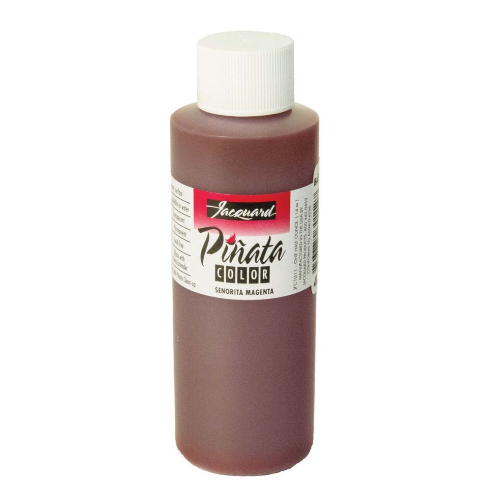 Pinata Senorita Magenta Alcohol Ink that by Jacquard, Professional and Versatile Ink that Produces Color-Saturated and Acid-Free Results, 4 Fluid Ounces, Made in the USA