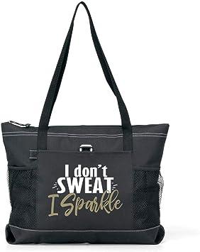 I Don/'t Sweat I Sparkle Workout Gym Tote Bag