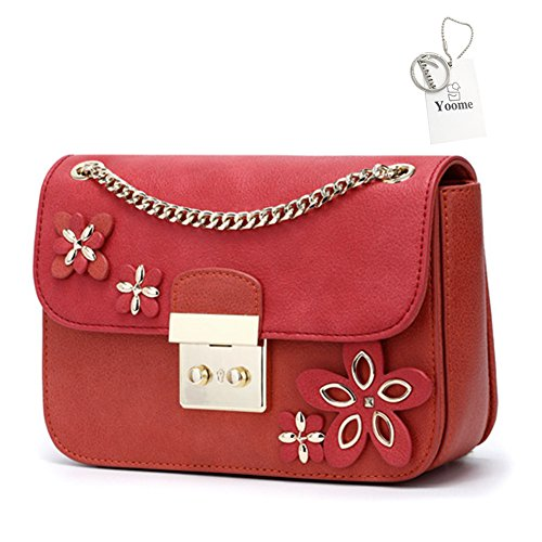 Yoome Borsa red M Rosso A Yoohy042 Red Spalla Donna 4xqg47Fn