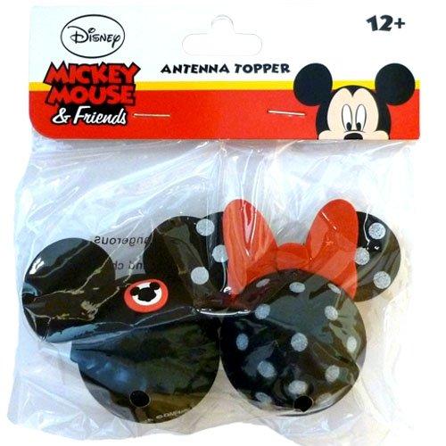 [해외]디즈니 미키 마우스 및 폴카 도트 미니 마우스 안테나 토퍼 세트/Disney Mickey Mouse and Polka Dot Minnie Mouse Antenna Topper Set
