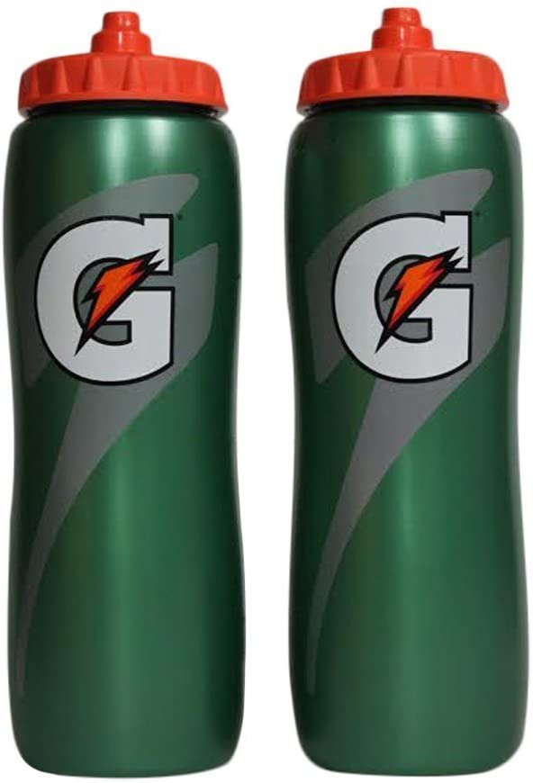 Gatorade 32 Oz Squeeze Water Sports Bottle -Pack of 2 - New Easy Grip Design