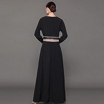 FRAUIT damska długa sukienka kurtka z dzianiny Roben w stylu narodowym czarna + brązowa koktajl vintage retro sukienka letnia sukienka rekreacyjna moda elegancka przepiękna streetwear: Odzież