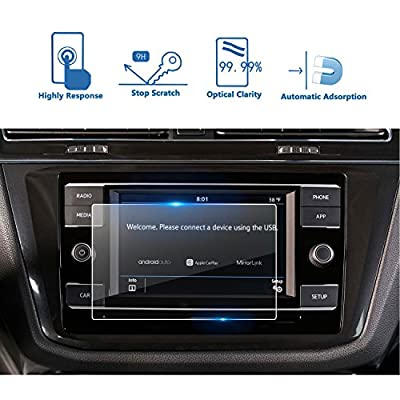 LFOTPP Replacement for 2020 2020 2020 Volkswagen Tiguan 6.5 Inch Tempered Glass Car Navigation Screen Protector, [9H] Infotainment Screen Center Touchscreen Protector Anti Scratch High Clarity