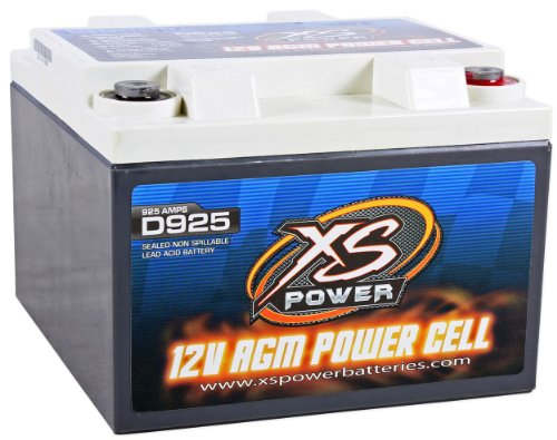 XS Power D925 2000 Amp AGM Power Cell Car Audio Battery + 527 Mounting Kit by XS POWER (Image #1)