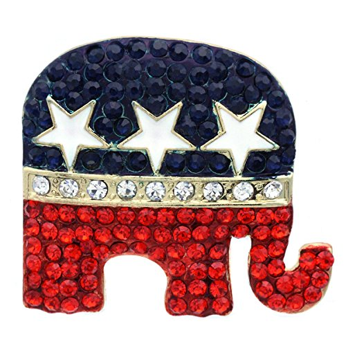 Soulbreezecollection Republican Party GOP Symbol Elephant Brooch Pin