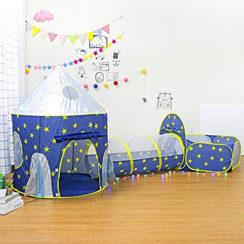 Children's Tent, Children's Play Tent Space Capsule Yurt Three-Piece Crawling Tunnel and Ball Pit by Little - Capsule Stress Reliever