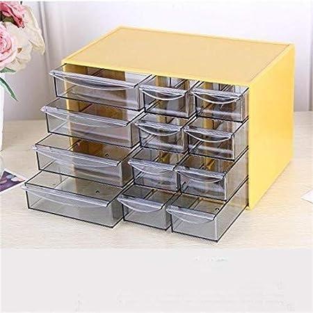 XWYSSH Los organizadores Oficina de joyería joyería cosmética Caja de Almacenamiento Caja de Almacenamiento de Muebles de Oficina con el plástico cajón del Escritorio Caja Organizador: Amazon.es: Hogar