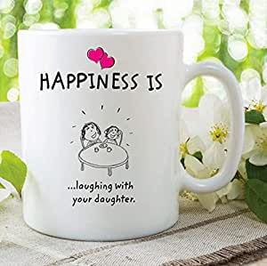 Amazon.com: Happiness Is Laughing With Your Daughter Mugs