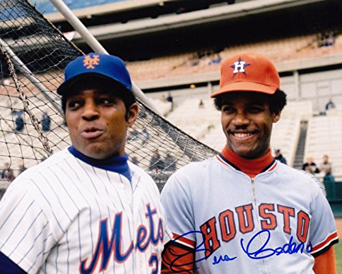 Signed Cesar Cedeno Photo - W WILLIE MAYS 8x10 - Autographed MLB Photos - Willie Mays Autographed Photo