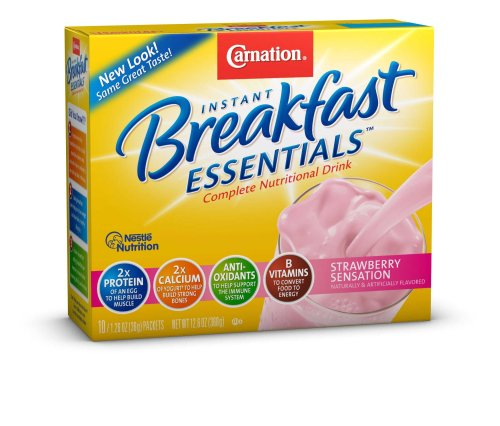 Carnation Instant Breakfast Essentials, Strawberry, 10 Count Box, 1.26-Ounce Packages (Pack of 3) (Adventures Of Lil Coco compare prices)