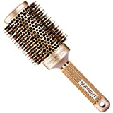 """SUPRENT Blowout Nano Thermic Ceramic & Ionic Round Barrel Hair Brush with Boar Bristle, Best Roller Hairbrush for Blow Drying, Curling&Straightening, Perfect Volume&Shine (3.3"""" Barrel 2 Inch)"""