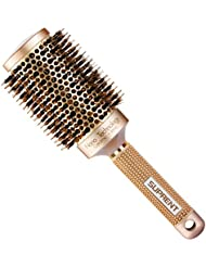 SUPRENT Nano Thermal Ceramic & Ionic Round Barrel Hair Brush with Boar Bristle (2 inch)