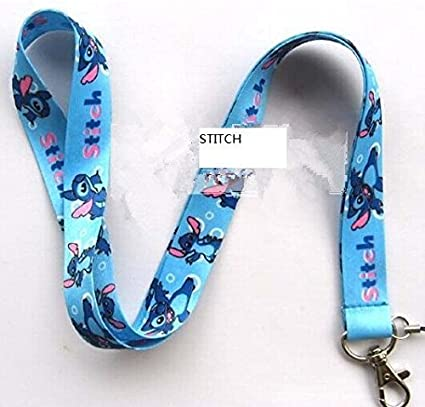 Amazoncom Stitches And Lilo Lanyard Keychain Charm Id Holder