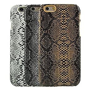 LIMME ships in 48 hours Snake Skin Design Pattern Hard Cover for iPhone 6 (Assorted Colors) , Brown