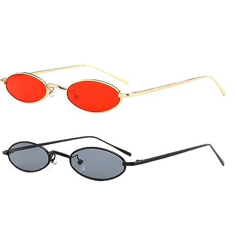 Baoblaze 2 Unids Gafas de Sol Ovaladas Unisex UV400 con ...