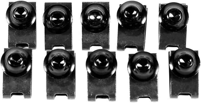 Black 10x M5 Motorcycle Fairing Body Bolt Kit Screw Spire Speed Fastener Clip Nut Motorcycle Fairing Body Screws Bolt