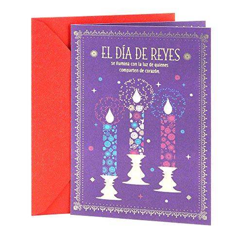 (Hallmark Vida Three Kings Day Card (Three Ornate Candles))