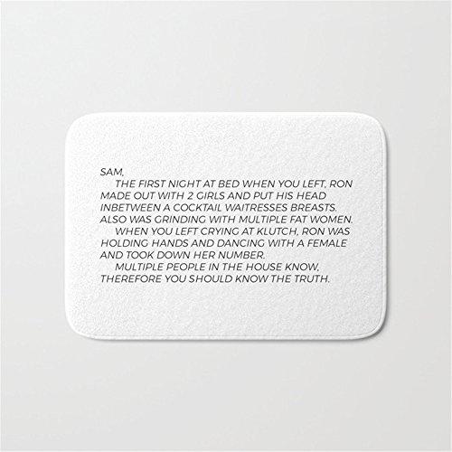 Jersey Shore Letter to Sammi Door Bath Mat 23.6