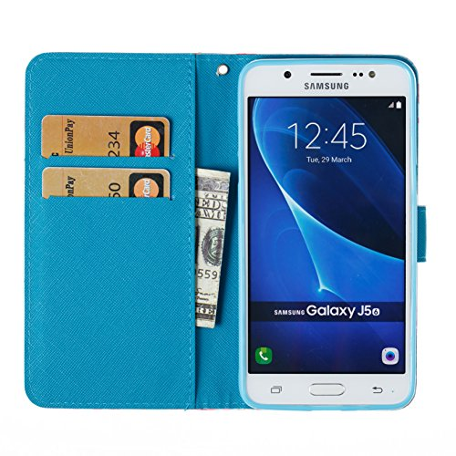 Samsung Galaxy J5 2016 PU Cuero Funda, Vandot 3D Bling Rhinestones Mariposa Shell TPU Inner Bumper Case Funda con Billetera Tapa Holster Cierre Magnético Tarjeta Ranura Carcasa Teléfono Concha Bolsa C SZCH-6