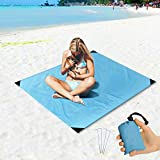Best Beach Mats - Freeasy Beach Blanket Sand Proof and Waterproof Pocket Review