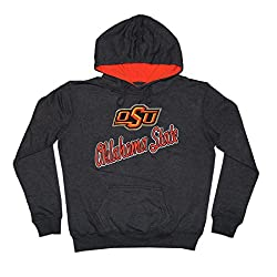 NCAA Youth OKLAHOMA STATE COWBOYS Athletic Pullover Hoodie M DarkGrey