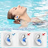 Swimming Ear Plugs, 4 Pairs Reusable Silicone