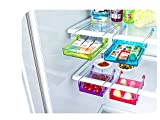 Multipurpose Slidable Freezer Storage Shelf (3pcs/pack) - Sliding Drawer Freezer Storage Shelf Refrigerator Organizer Space Saver Shelf