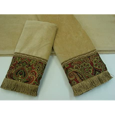 Sherry Kline Tangiers Nugget 3 Piece Decorative Towels