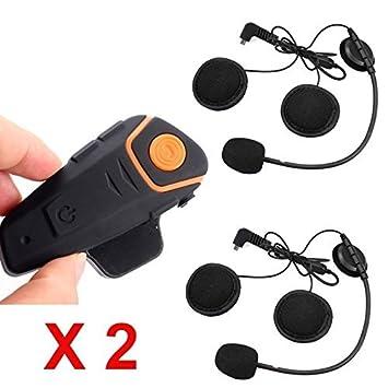 Boblov BT-S2 1000M BT Motorcycle Helmet Headset Motorbike Intercom Headset Interphone FM 1pcs with 1 earphone