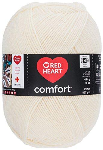 Red Heart Comfort Yarn, New Cream